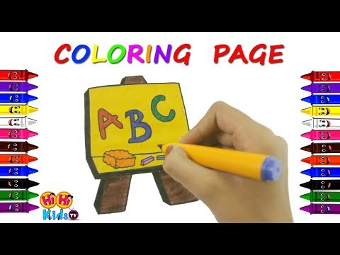 Coloring Pages for Kids | How to Draw ABC | Learn Colors for Children
