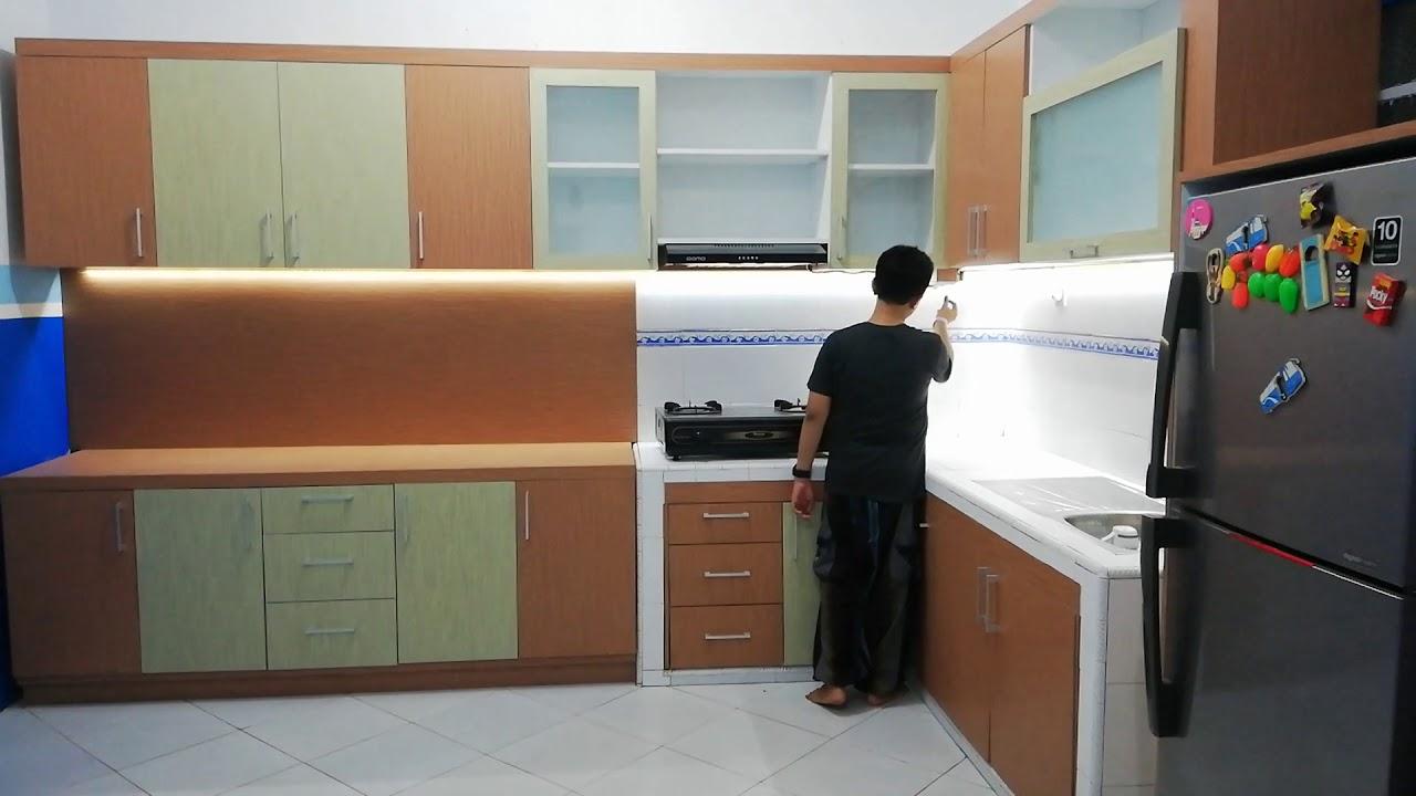 Kitchen set dapur furniture sensor lampu led