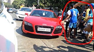 Audi R8 attacked by people | People