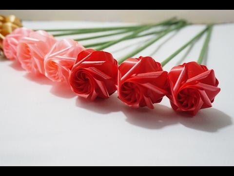 วิธีพับ ดอกกุหลาบแรกแย้ม สำหรับวันวาเลนไทน์ (D.I.Y rose for Valentine's day)