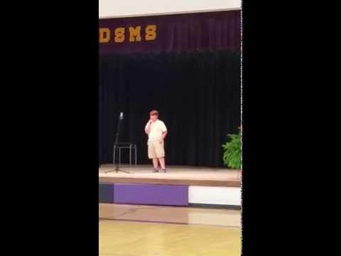 When I was your man by Andrew Estes at Double Springs Middle School Talent Show