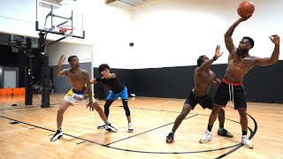 Most EXHAUSTING 2v2 Basketball Game EVER! Cash & Flight vs Deestroying & King Cid!