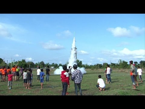 Rockets launched in Laos as parched farmers pray for rain