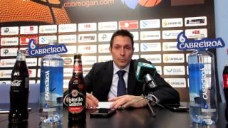 Video Rueda de prensa tras el Cafés Candelas Breogán - Ourense Provincia Termal
