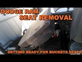 DODGE RAM REAR SEAT REMOVAL - READY FOR BUCKET SEATS - COLOSSUS