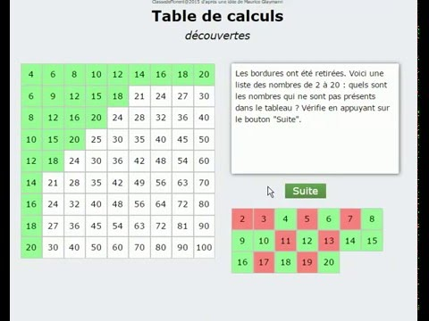 Table de multiplication anim e d couvertes youtube - Domino table de multiplication ...