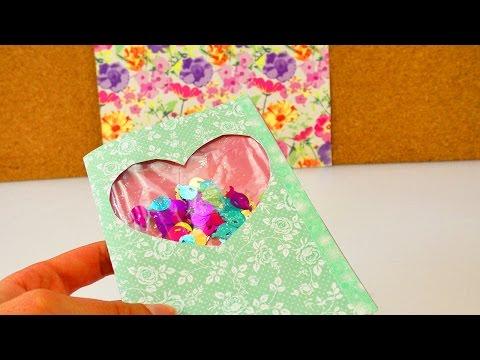 DIY Schüttelkarte mit Konfetti | Geburtstagskarte mit tollem Effekt selber machen | Überraschung