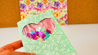 DIY Schüttelkarte mit Konfetti   Geburtstagskarte mit tollem Effekt selber machen   Überraschung