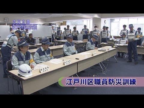 江戸川区職員防災訓練