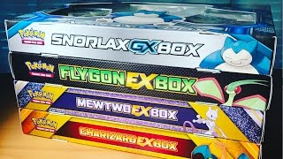 Pokemon Cards - 4 DIFFERENT EX COLLECTION BOXES OPENING! (16 Booster Packs!!) CRAZY PULLS OMG OMG
