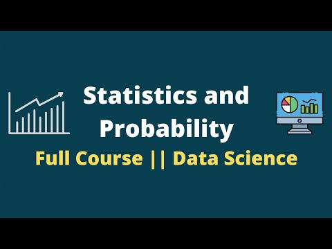 Statistics and Probability Full Course    Statistics For Data Science