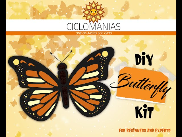 Paint an Upcycled Monarch Butterfly