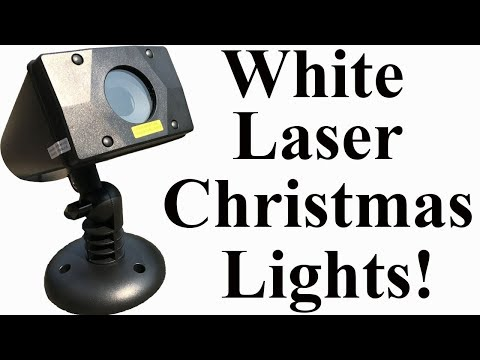 Star Shower White Laser Lights | White Laser Christmas Lights | Star Shower Motion Review