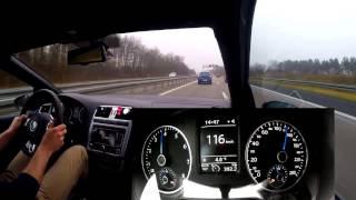 VW Polo R WRC - On German Autobahn Acceleration 259kmh