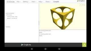 scadwalk 3d cad on google android nexus7 2013