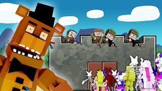 Minecraft - FNAF BASE CHALLENGE: Animatronic Army! (Five Nights at Freddy