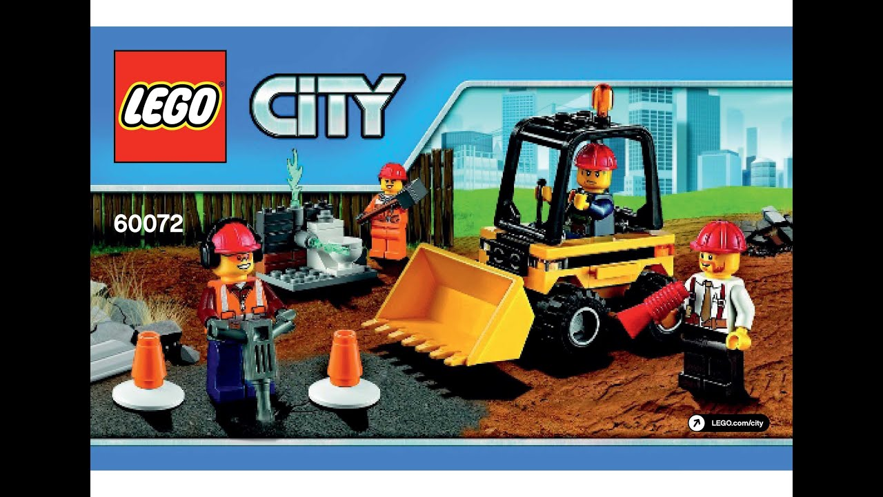 lego 60072 demolition starter set instructions lego city. Black Bedroom Furniture Sets. Home Design Ideas
