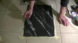Венецианка.Чёрный мрамор.(Вы узнаете технологию нанесения декоративной поверхности имитирующей чёрный мрамор., 2016-12-22T05:49:51.000Z)