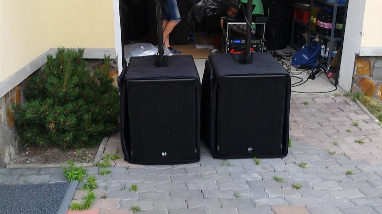 RCF TT25A II + RCF SUB8003AS II soundcheck
