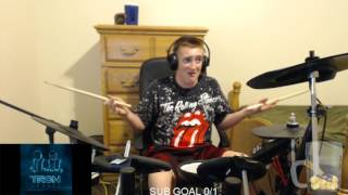 [Twitch: VeltriDrummer] - (drum) -- Daft Punk - Derezzed (4 minute mix)