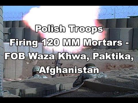 Mortar launch at FOB Waza Khwa