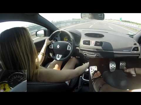 Fast Driving Girls - Marty Sexy Blonde Driving Renault Mégane RS In High Heels (V065)