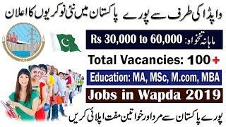 Latest Jobs in Water And Power Development Authority Wapda 2019 Pakistan _ Online Registration.