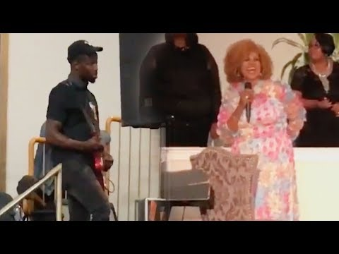 KAREN CLARK SHEARD & JABARI JOHNSON making his guitar talk.
