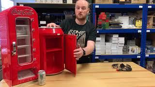 Coca Cola Cooler Video Review - Vending Machine and Coca Cola Can