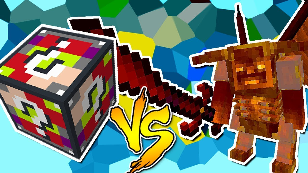 Balrog Vs Lucky Block Elementos Minecraft Lucky Block Challenge