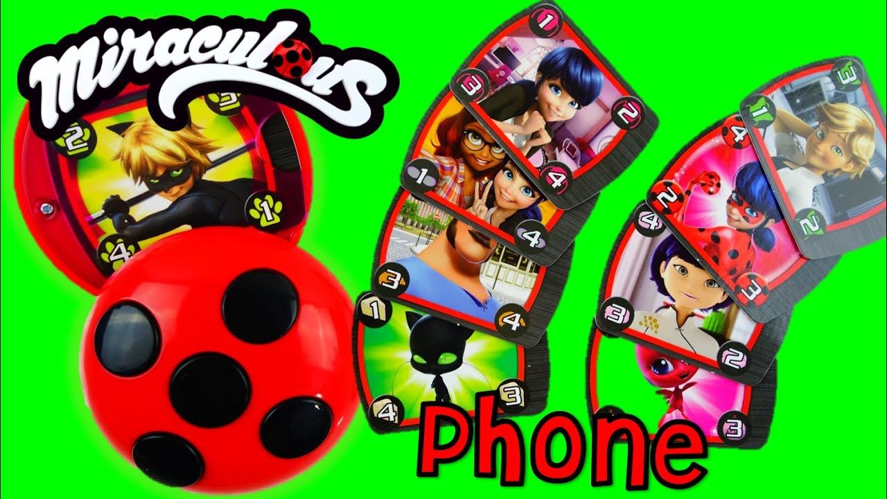 NEW Miraculous Ladybug And Cat Noir Toy Compact Caller
