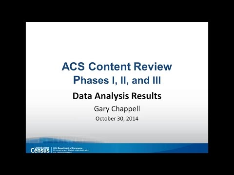 PRB Webinar: Update on Results of the ACS Content Review at the U.S. Census Bureau