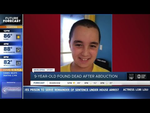 Abducted 9-year-old Florida Boy Found Dead, Amber Alert Canceled