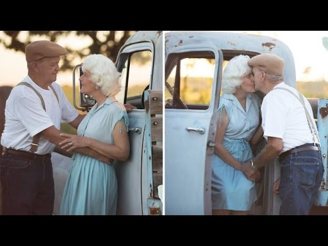 Elderly Couple's 'Notebook' Inspired Photo Shoot Will Melt Your Heart