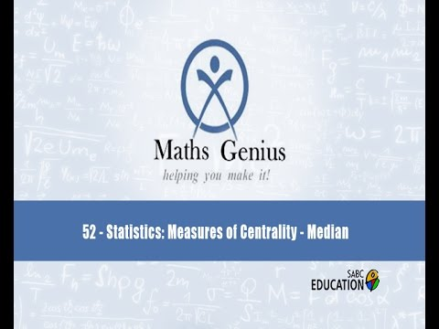 Maths Genius: Episode 52 - Statistics Measures of Centrality: Mode