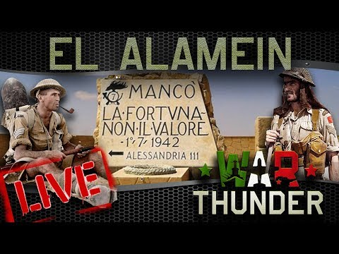 🔴LIVE: Bloody Sand | War Thunder RB Event - El Alamein