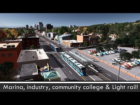 Cities: Skylines - Building a realistic US city [EP.13] - New features & light rail/tram/streetcar!