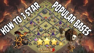 HOW TO 3 STAR POPULAR TH9 BASES, Clash of Clans ( Jack Sparrow TH9 War base )