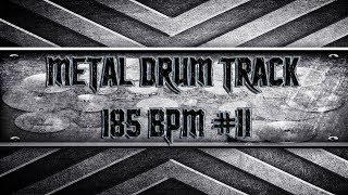 Epic Heavy Metal Drum Track 185 BPM (HQ,HD)