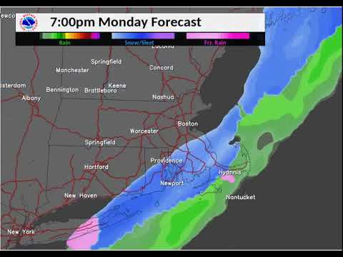 When to expect snow in Massachusetts on Monday, Jan. 8, 2017