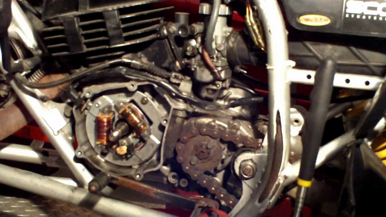 yamaha blaster troubleshoot spark: part 2 remove rotor & stator - youtube