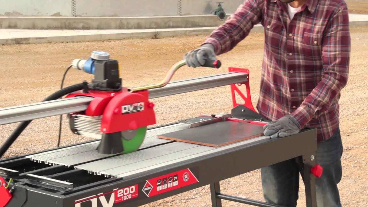 wet saw tile cutter cortador electrico rubi dv 200 1000
