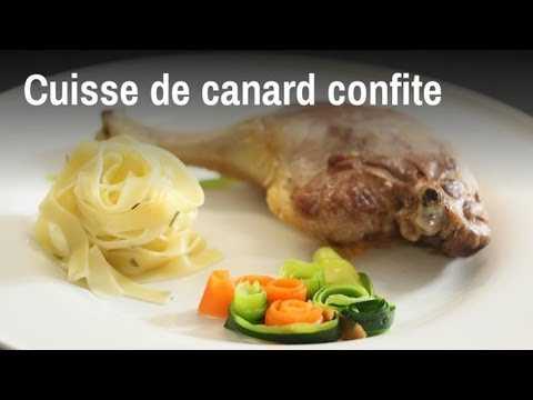 recette de cuisses de canard confites youtube. Black Bedroom Furniture Sets. Home Design Ideas