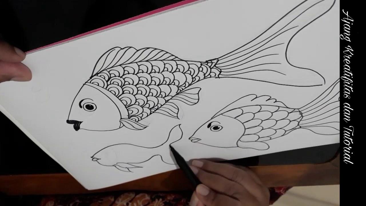 20 Koleski Terbaru Gambar Ragam Hias Fauna Ikan Yang