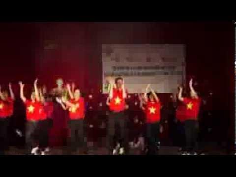 """Nhảy dân vũ """"Rửa tay"""" bộ môn tiếng Anh - Khoa Ngoại ngữ, Đại học Thái Nguyên"""