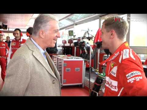 Sebastian Vettel completa su primera jornada como piloto de la Scuderia Ferrari
