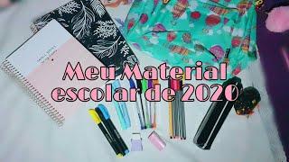 Meu material escolar 2020| Diário da Ane oficial