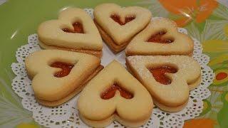 Песочное печенье «Сердечки»(Напеките с вечера песочное печенье «Сердечки» и подайте к чашечке кофе или чая. Начните утро в день Святого..., 2016-02-12T08:22:54.000Z)