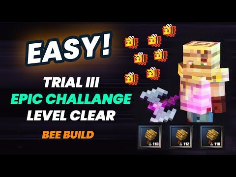 """Minecraft Dungeons """"Bee Squad"""" Build Trial III EASY EPIC CHALLENGE Clear Gameplay"""