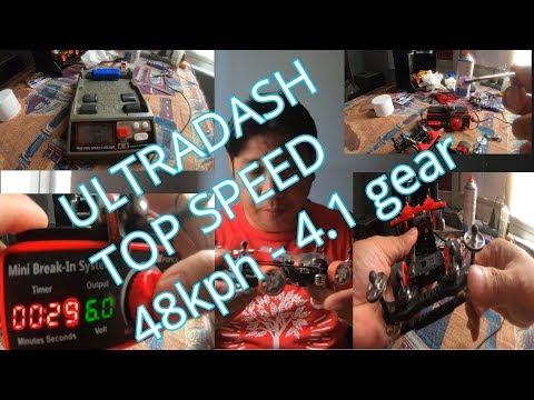 How To Break-in Ultradash Tamiya Motor (48kph In 4.1 Gear Ratio??)